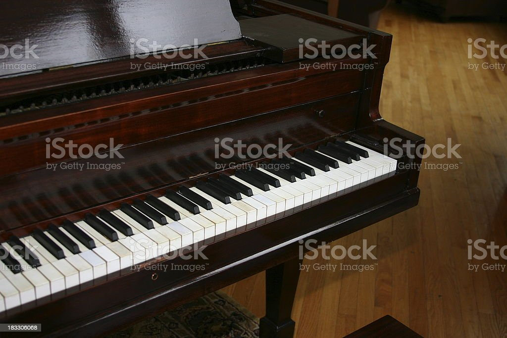 antique baby grand royalty-free stock photo