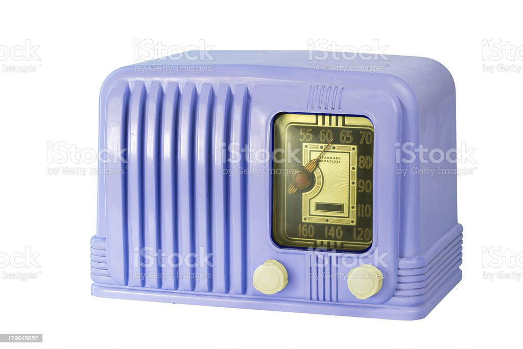 Antique Bakelite Tube Radio 05 stock photo