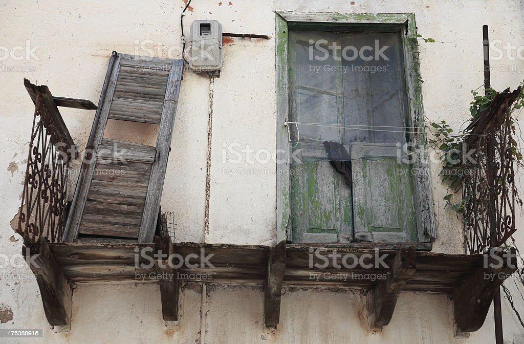 Antique balcony-Turkey stock photo