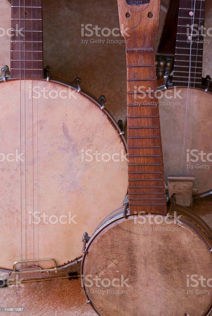 Banjoes antigo foto royalty-free