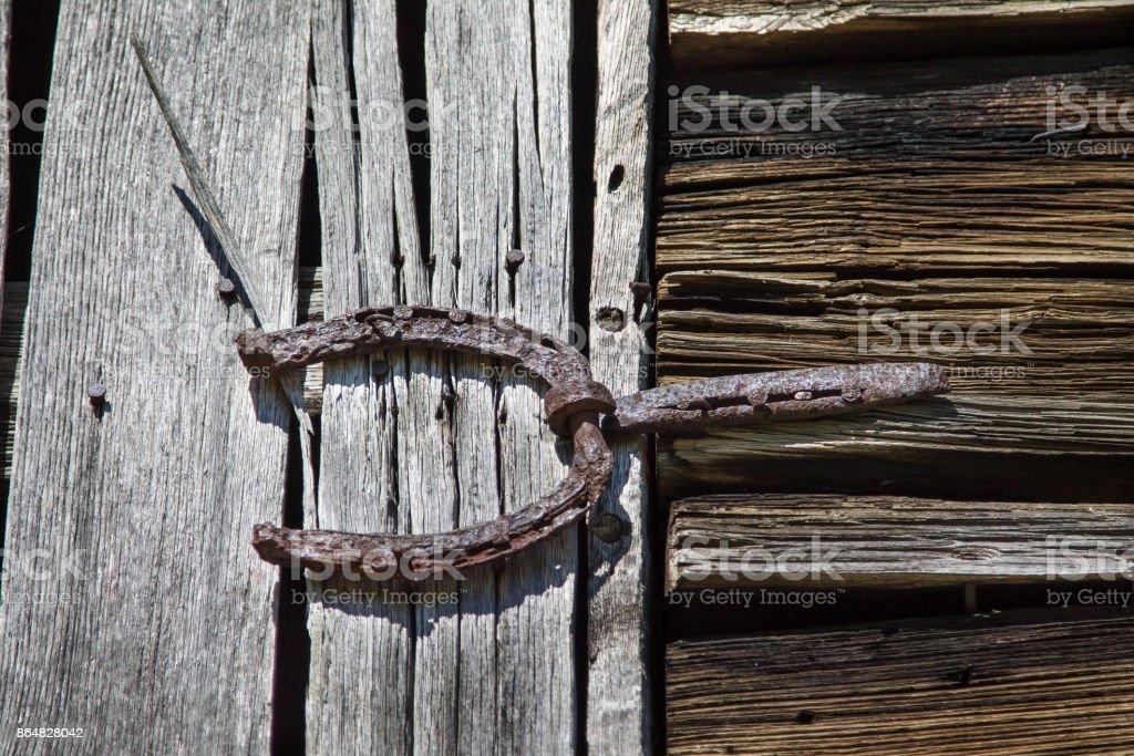 antique barndoor hinge royalty-free stock photo - Antique Barndoor Hinge Stock Photo & More Pictures Of Abandoned IStock