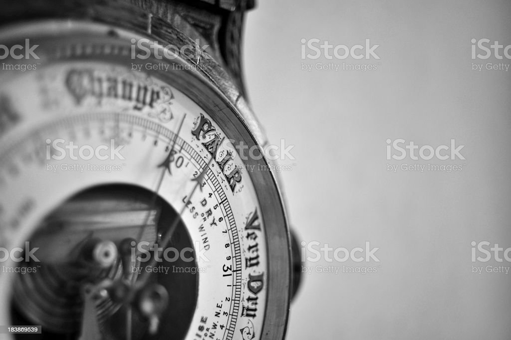 Antique Barometer stock photo