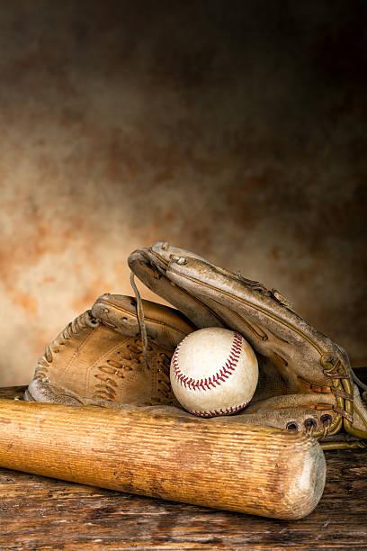 Antique équipement de baseball - Photo