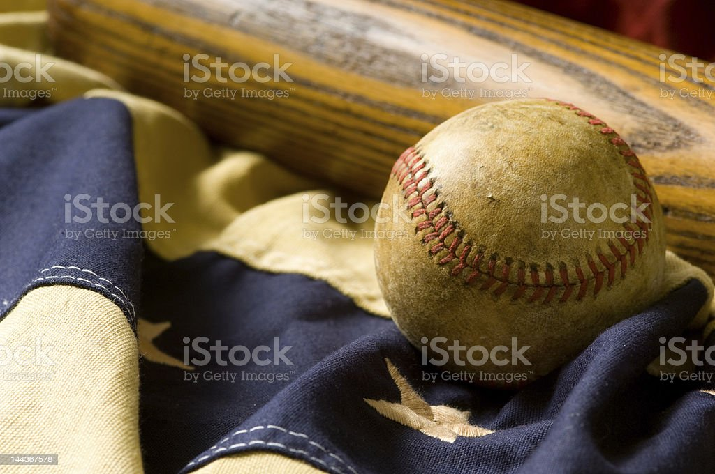 Antique Baseball Items stock photo