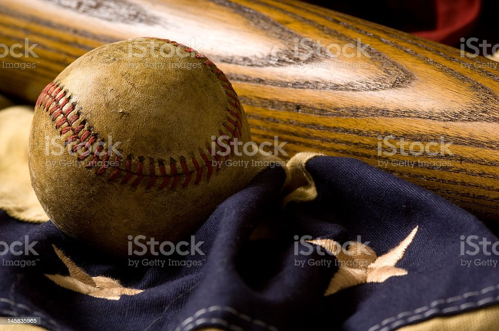 Antique Baseball Items royalty-free stock photo