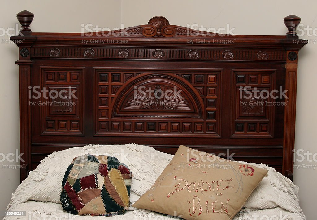 Antique Bed  - Headboard royalty-free stock photo