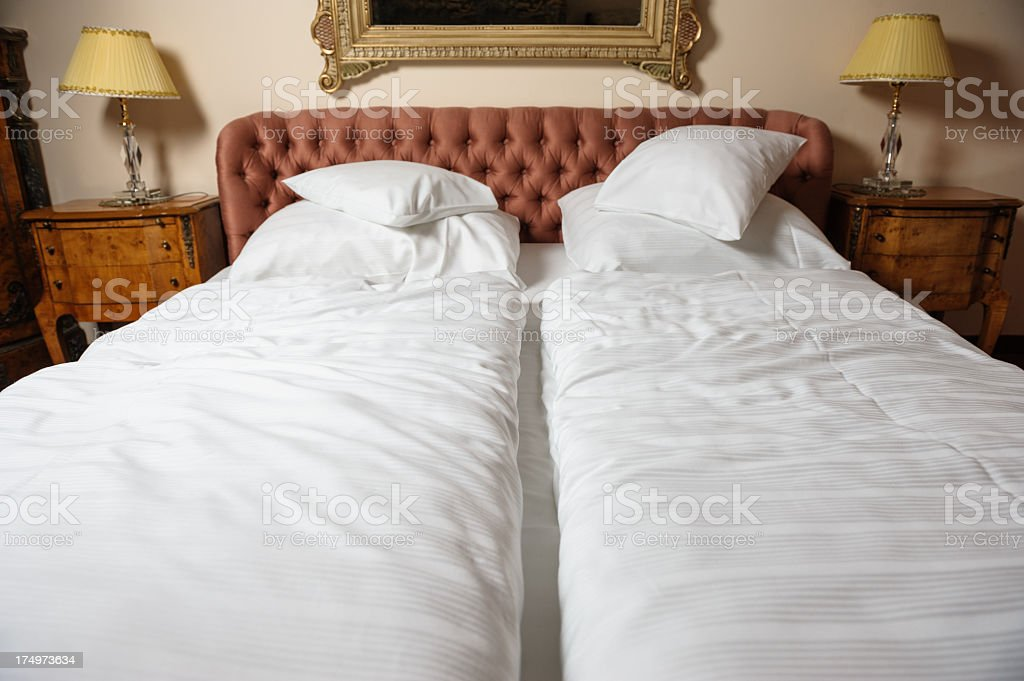 Antique bed royalty-free stock photo