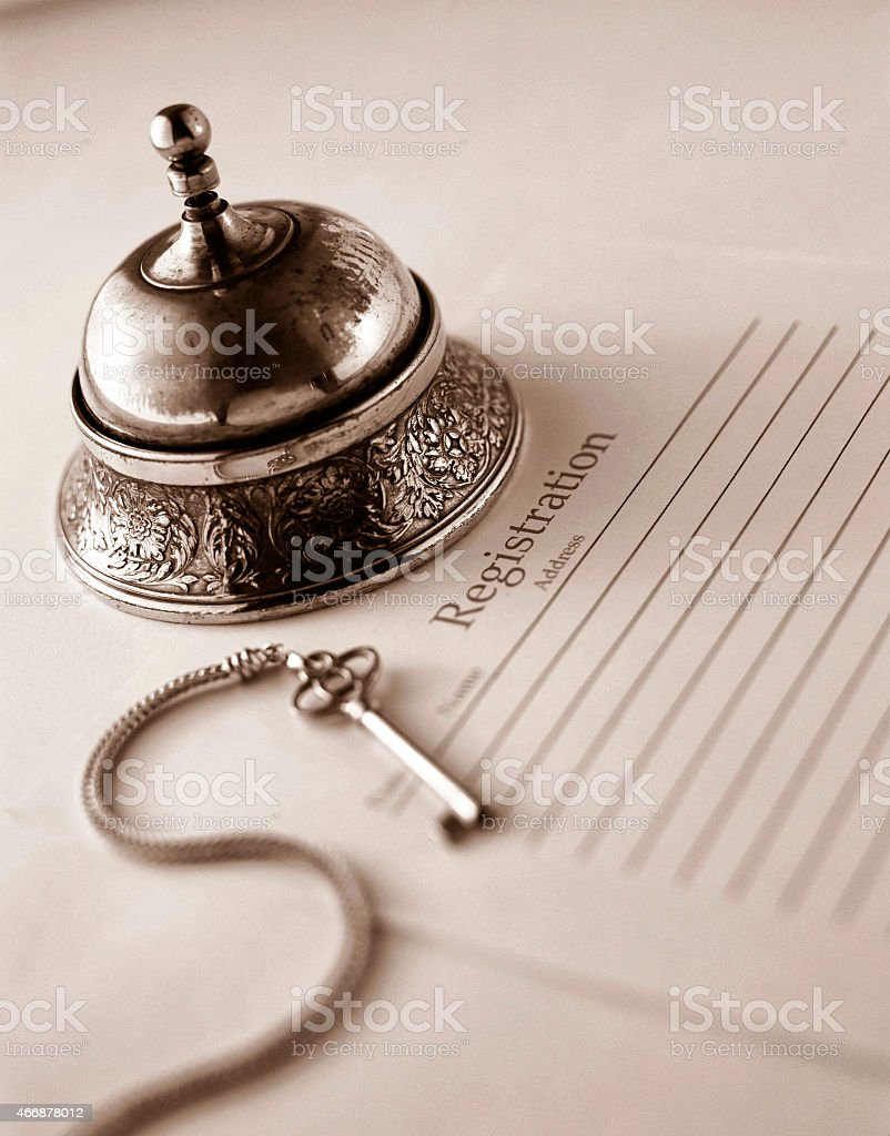 Antique Bell stock photo