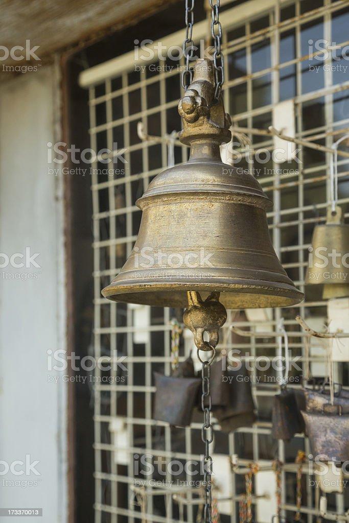 Antique bells stock photo