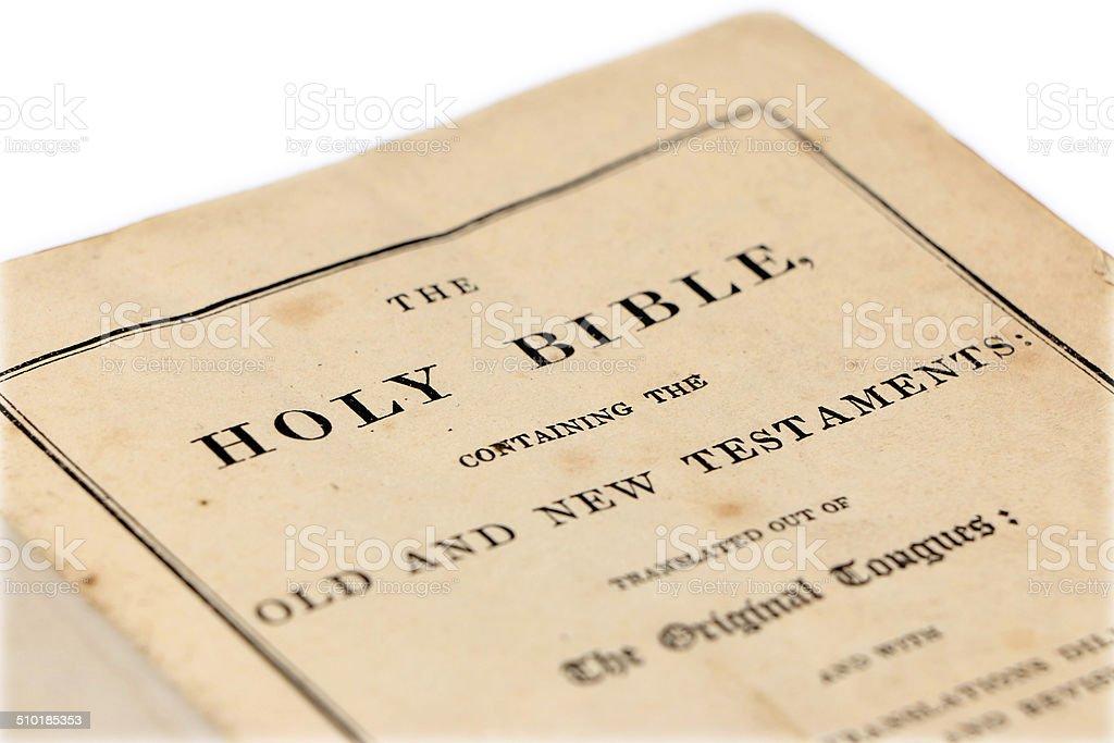 Antique Bible stock photo