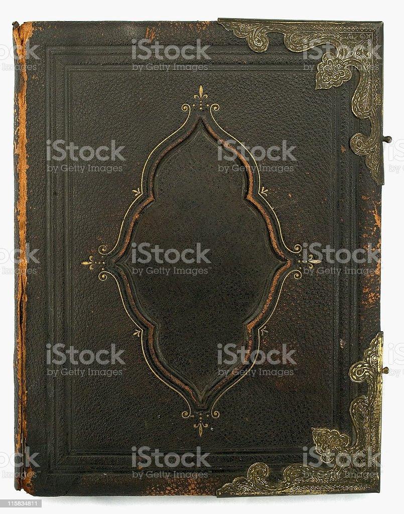 Antique Bible third of three stock photo