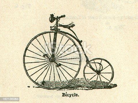 istock Antique Bicycle Illustration Old Bike 152135084