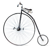 istock Antique bicycle isolated on white 1065109698