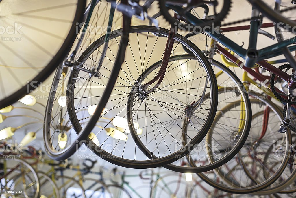 Antique Bicycle Store royalty-free stock photo