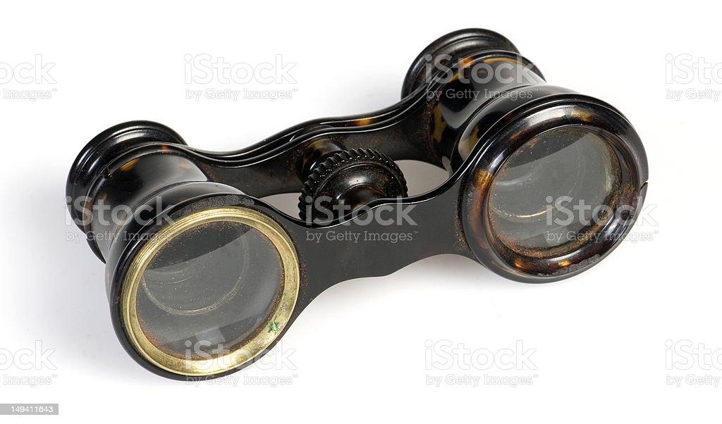 Antique Binoculars stock photo