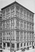 Antique black and white photo of Buffalo, New York: Builder's Exchange
