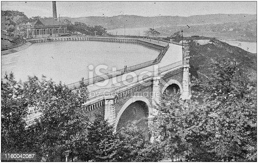 Antique black and white photo of Cincinnati, Ohio: Reservoir, Eden Park