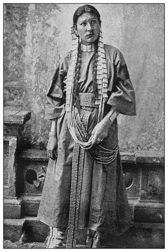 Antique black and white photo of the United States: Cherokee woman