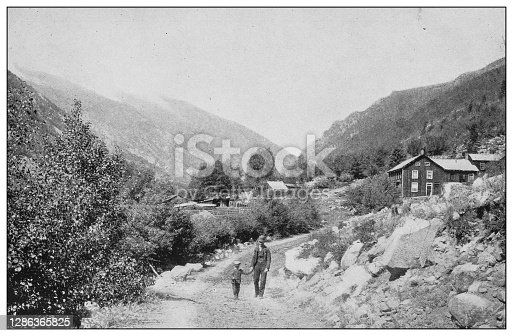 Antique black and white photo of the United States: Clear Creek Valley, Empire, Colorado