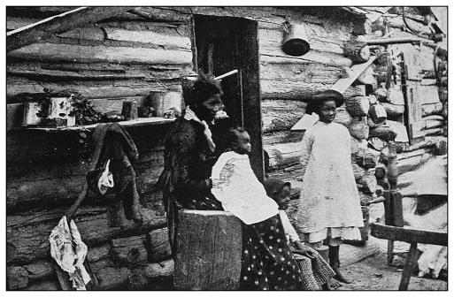 Antique black and white photo of the United States: Family, Labadie, Missouri