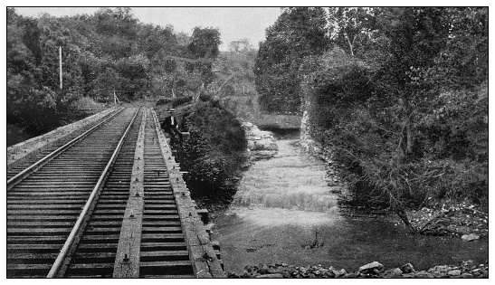 Antique black and white photo of the United States: Flint Falls, Pike County, Illinois