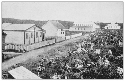 Antique black and white photo of the United States: Pioneer settlement, Alaska