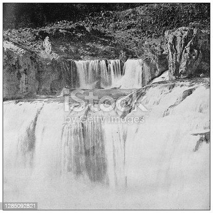Antique black and white photo of the United States: Shoshone Falls, Idaho