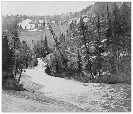 Antique black and white photo of the United States: Silver Apron, Yosemite