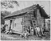 istock Antique black and white photo of the United States: Southern USA family 1286135305