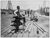 istock Antique black and white photo of the United States: Wharf, Lower Red River 1286360912