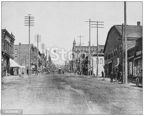 Antique black and white photograph: Main Street, Butte, Montana
