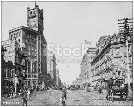 Antique black and white photograph: Market Street, San Francisco