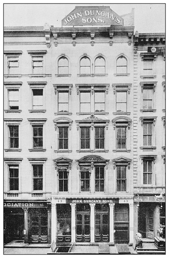 Antique black and white photograph of New York: JOHN DUNCAN'S SONS, IMPORTERS OF SPECIAL GROCERIES