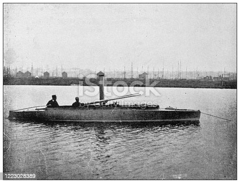 658114236 istock photo Antique black and white photograph of sport, athletes and leisure activities in the 19th century: Wild Fowling 1223028389