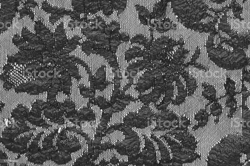Antique black lace royalty-free stock photo