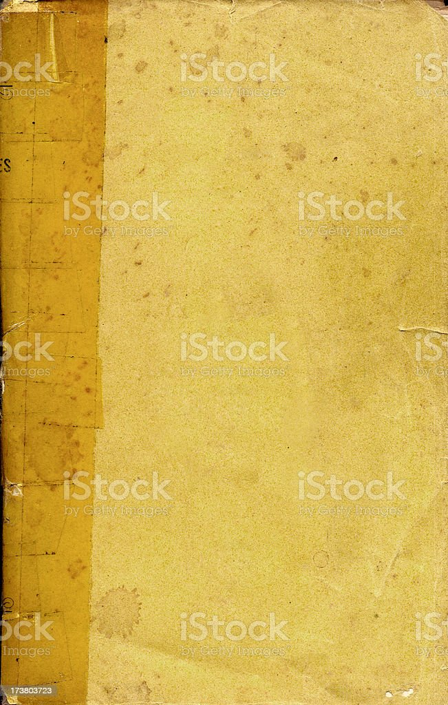 Antique blank book 1 stock photo