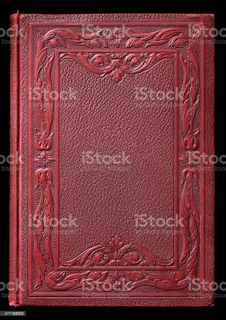 Antique Blank Book Cover royalty-free stock photo