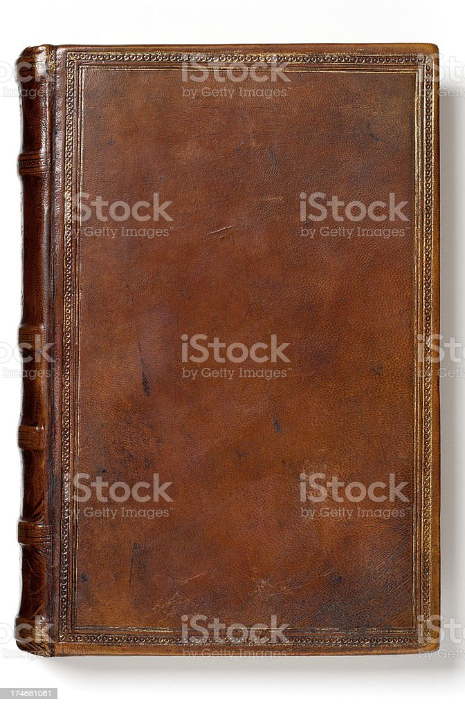 Antique Blank Book stock photo