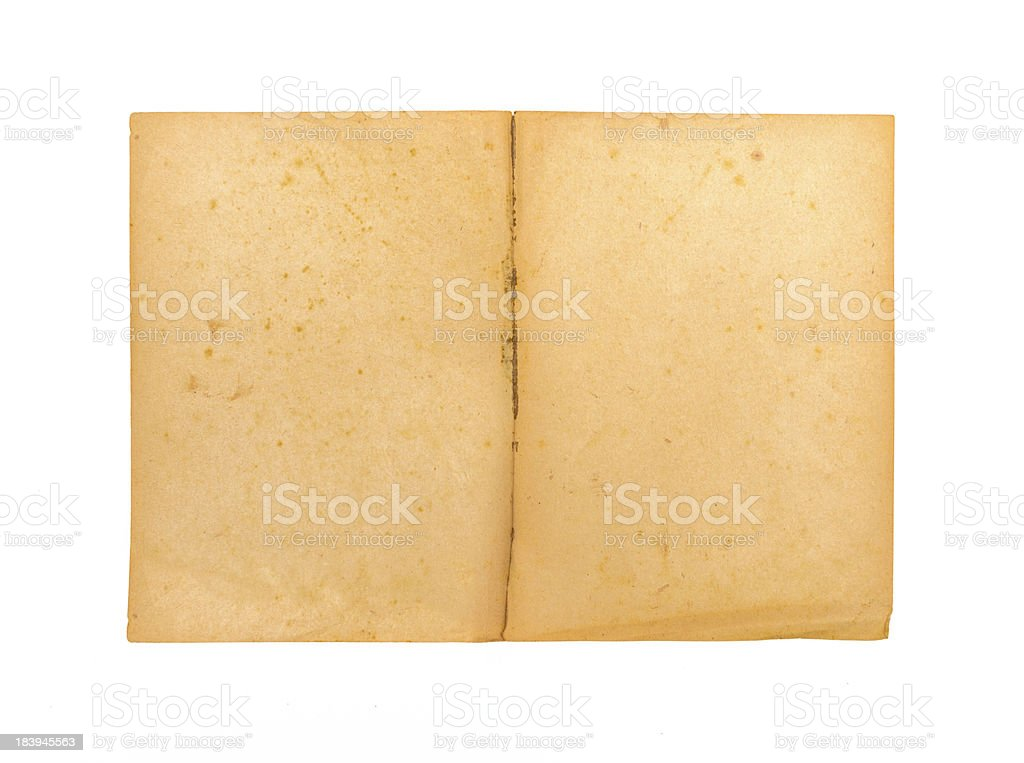 Antique blank book royalty-free stock photo