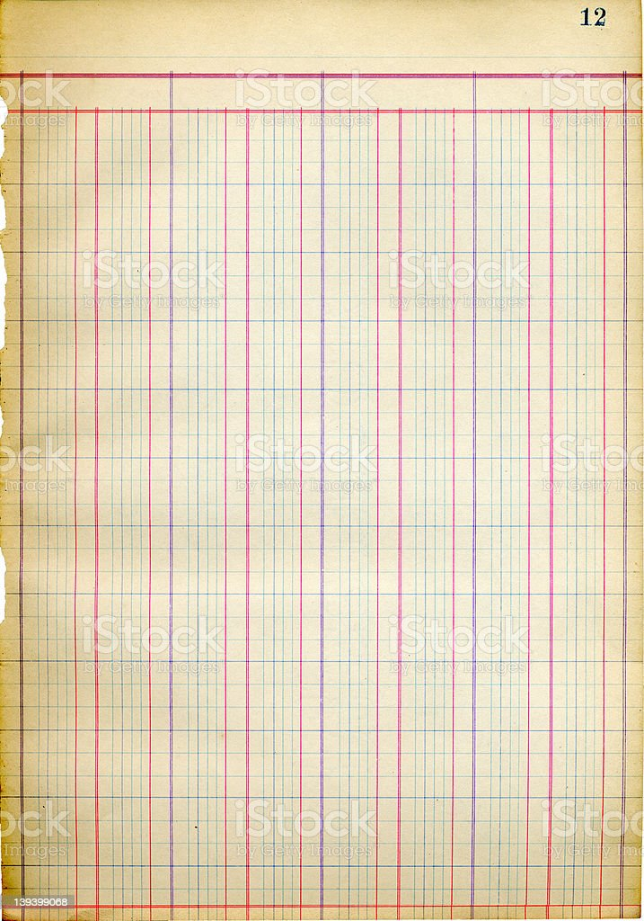antique blank ledger sheet 1917 stock photo more pictures of