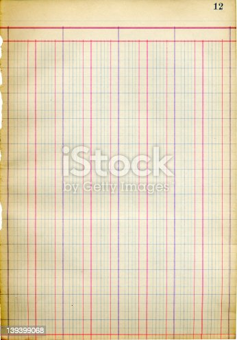 istock Antique Blank Ledger Sheet -- 1917 139399068