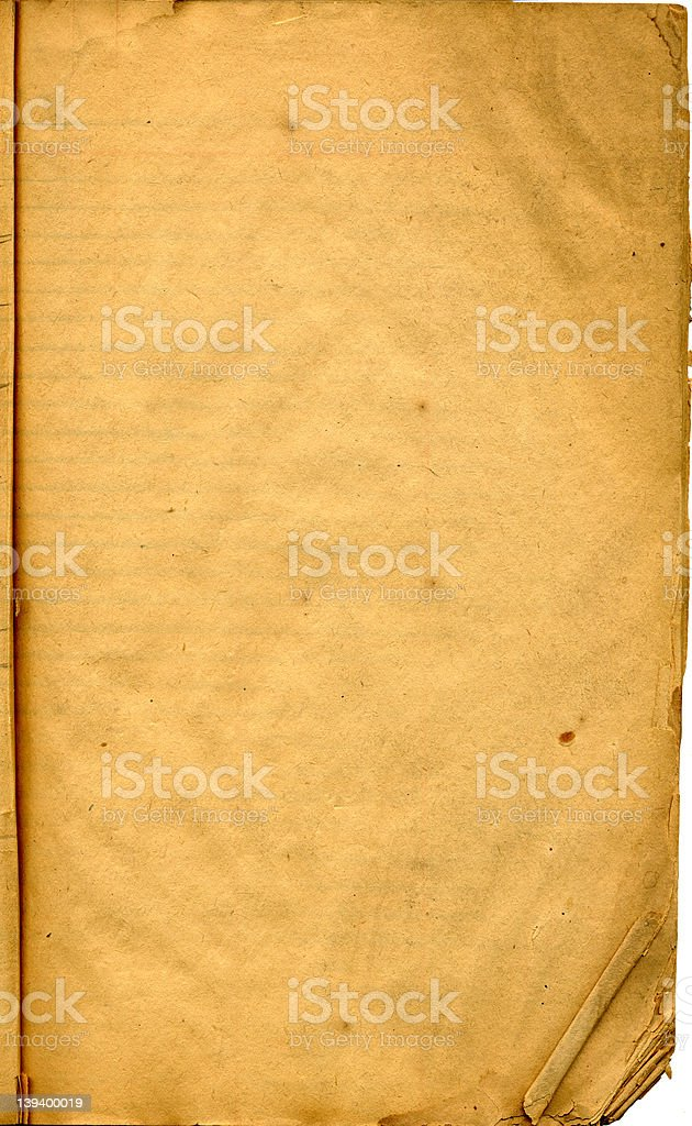Antique blank page royalty-free stock photo