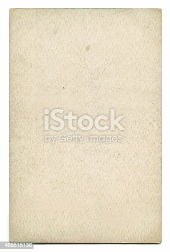 istock Antique blank postcard with clipping path 468515136