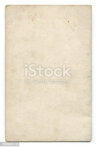 istock Antique blank postcard with clipping path 509639748