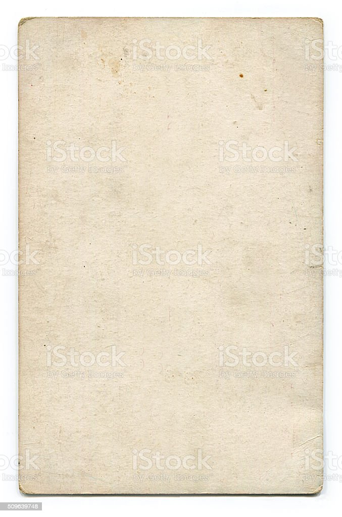 Antique blank postcard with clipping path stock photo