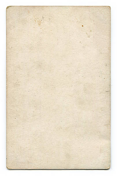 antique blank postcard with clipping path - grainy stock photos and pictures