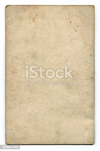 istock Antique blank postcard with clipping path 509640484