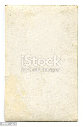 istock Antique blank postcard with clipping path 510174224