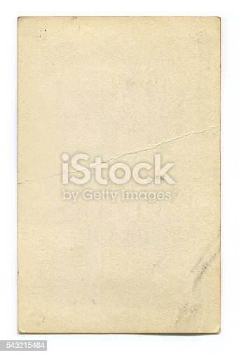 istock Antique blank postcard with clipping path 543215464