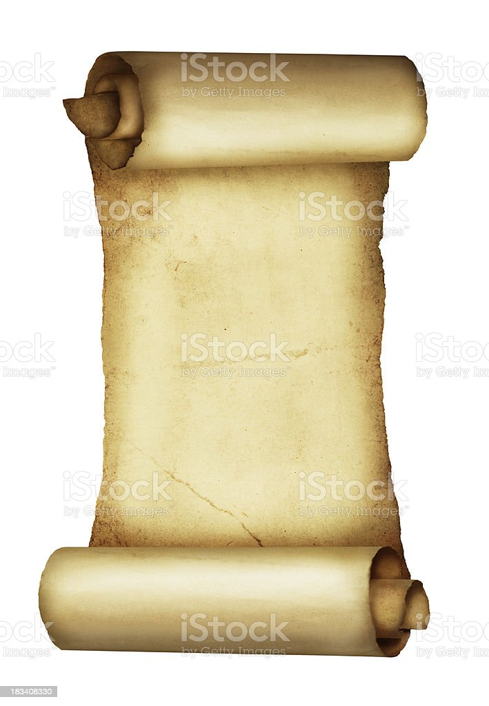 Antique Blank Scroll royalty-free stock photo